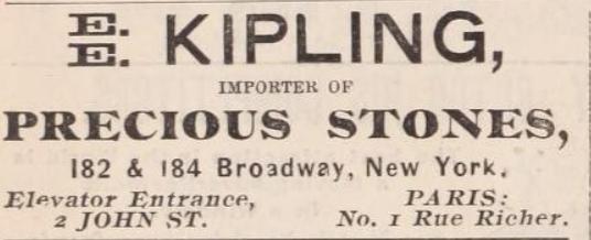 E. E. Kipling Ad
